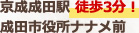 京成成田駅徒歩3分成田市役所ナナメ前