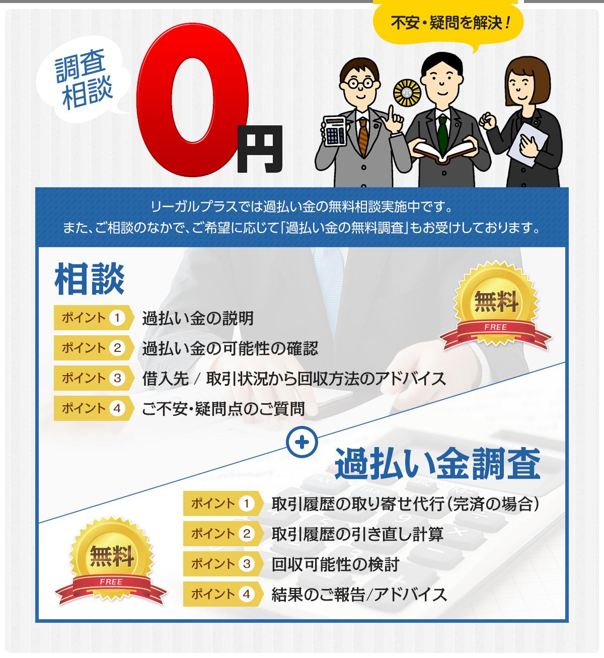 調査相談0円 不安・疑問を解決!
