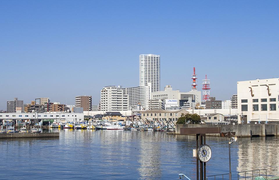 船橋市船橋港周辺の画像