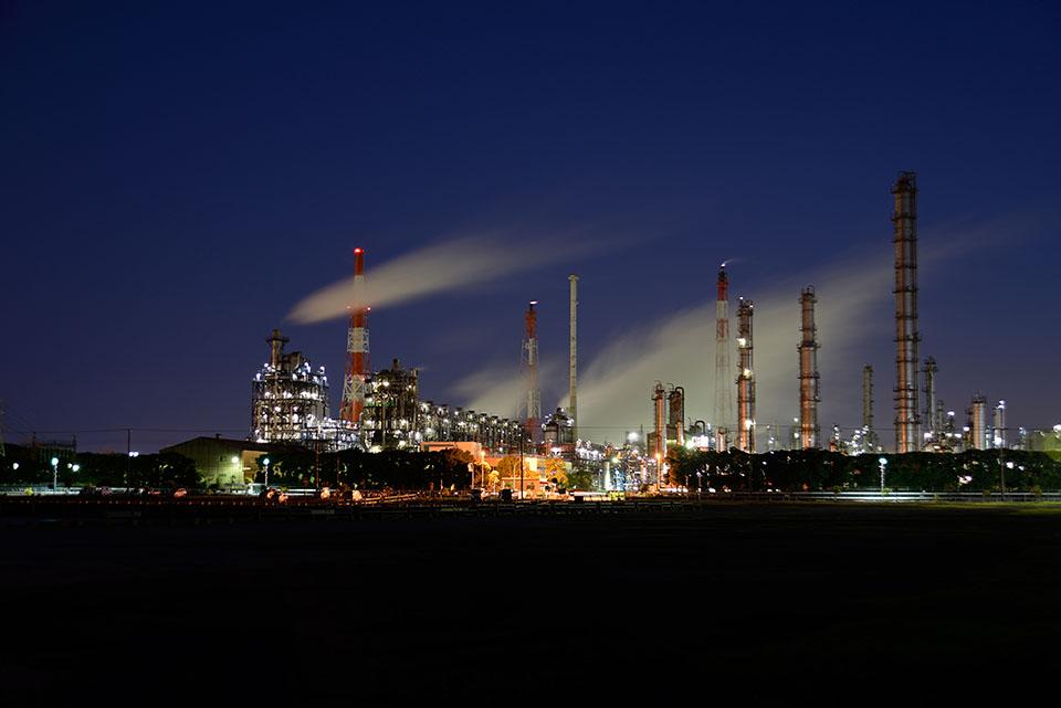 市原市の工場夜景画像