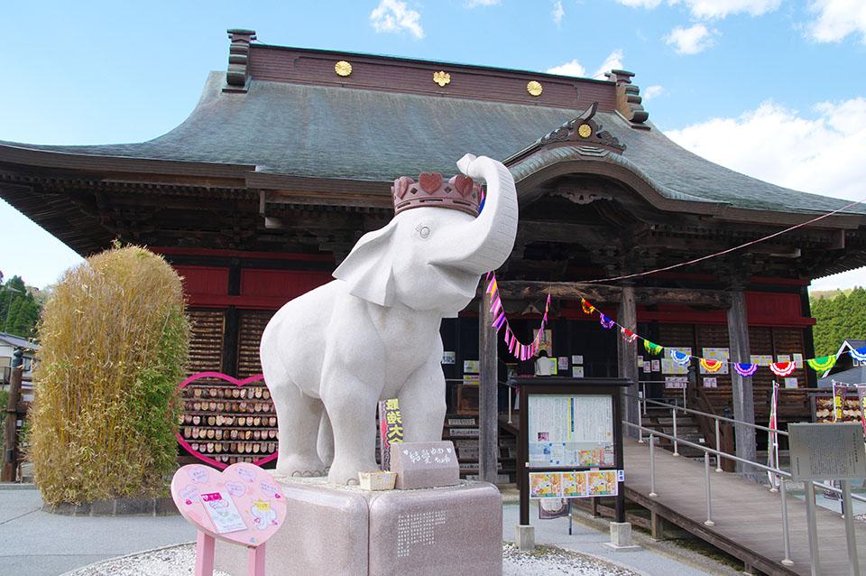 長南町にある長福寿寺のゾウ画像