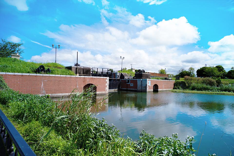 稲敷市にある横利根閘門ふれあい公園画像