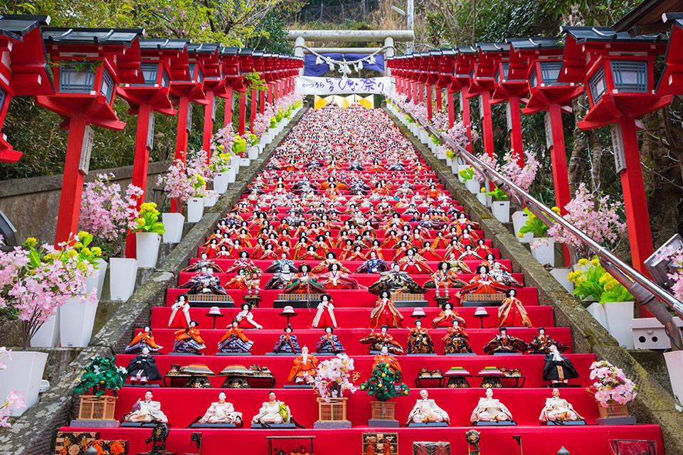 勝浦市で開催されるかつうらビッグひな祭りの画像
