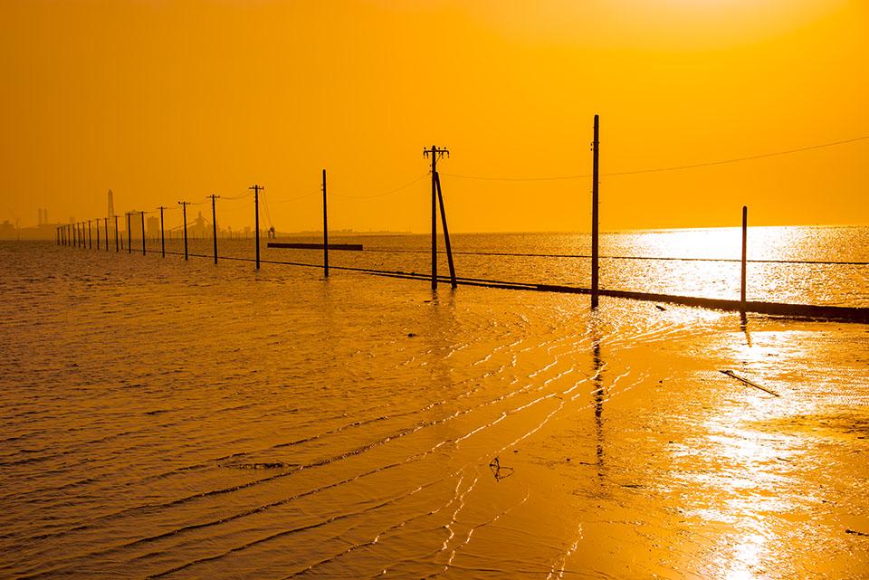 木更津市の江川海岸画像