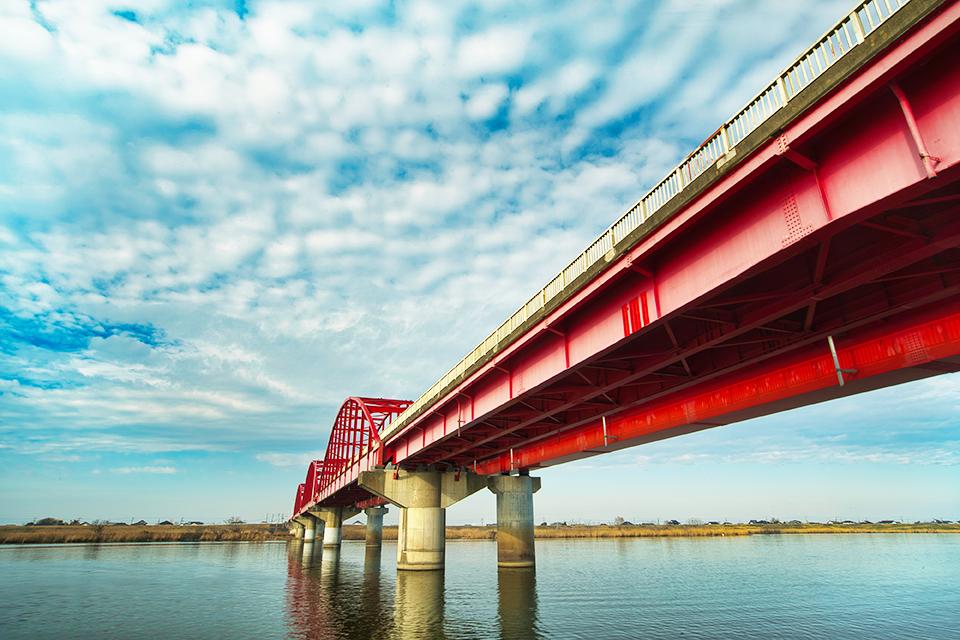 神崎町と稲敷市を結ぶ神崎大橋の画像
