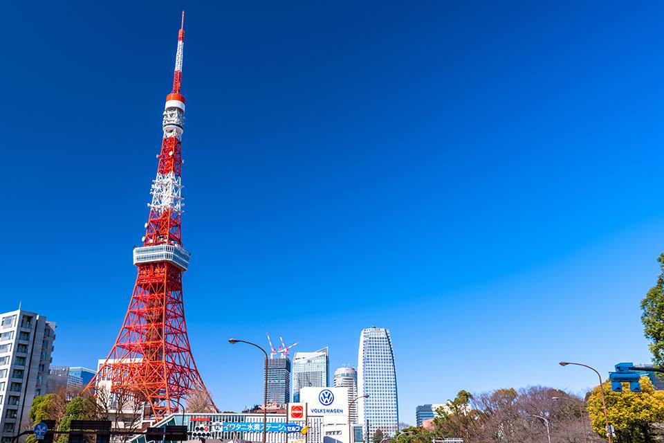 港区にある東京タワー画像