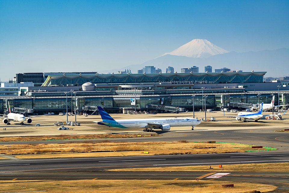 大田区にある羽田空港画像