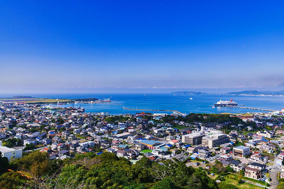 館山市にある城山公園からの眺望画像